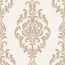 Metallic Tile Effect Wallpaper by Glitter Damask Wallpaper Diy