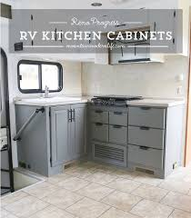 Good Rv Cabinet Remodel The Progress Of Our RV Kitchen Cabinets