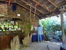 Interior Mangrove Jungle Bar Rustic Style In Dominica