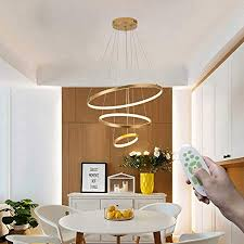 moderne esszimmer pendelleuchte dimmbar ring design led