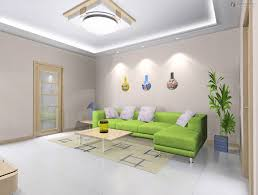 bright small living room with tray ceiling design and also