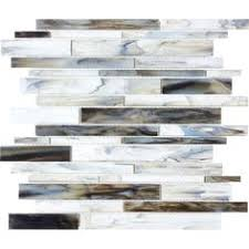 Thinset For Glass Mosaic Tile by Elida Ceramica Volcanic Beige Silver Glass Mosaic Linear Indoor
