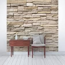fototapete asian stonewall steinmauer aus großen hellen steinen