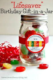 Idea This Adorable Lifesaver Birthday Gift In A Jar Comes Witha Free Printable
