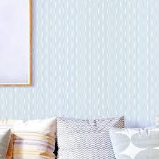 modern minimalist light blue non woven wallpaper bedroom living