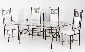table fer forgé table à manger en fer forgé table de