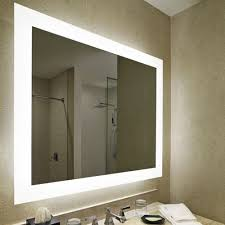 rectangular 3x3 inch wall mounted vanity mirror with led lighting