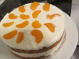 käse sahne torte mit mandarine