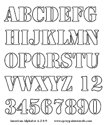 Stencils For Painting Letters Letters Font