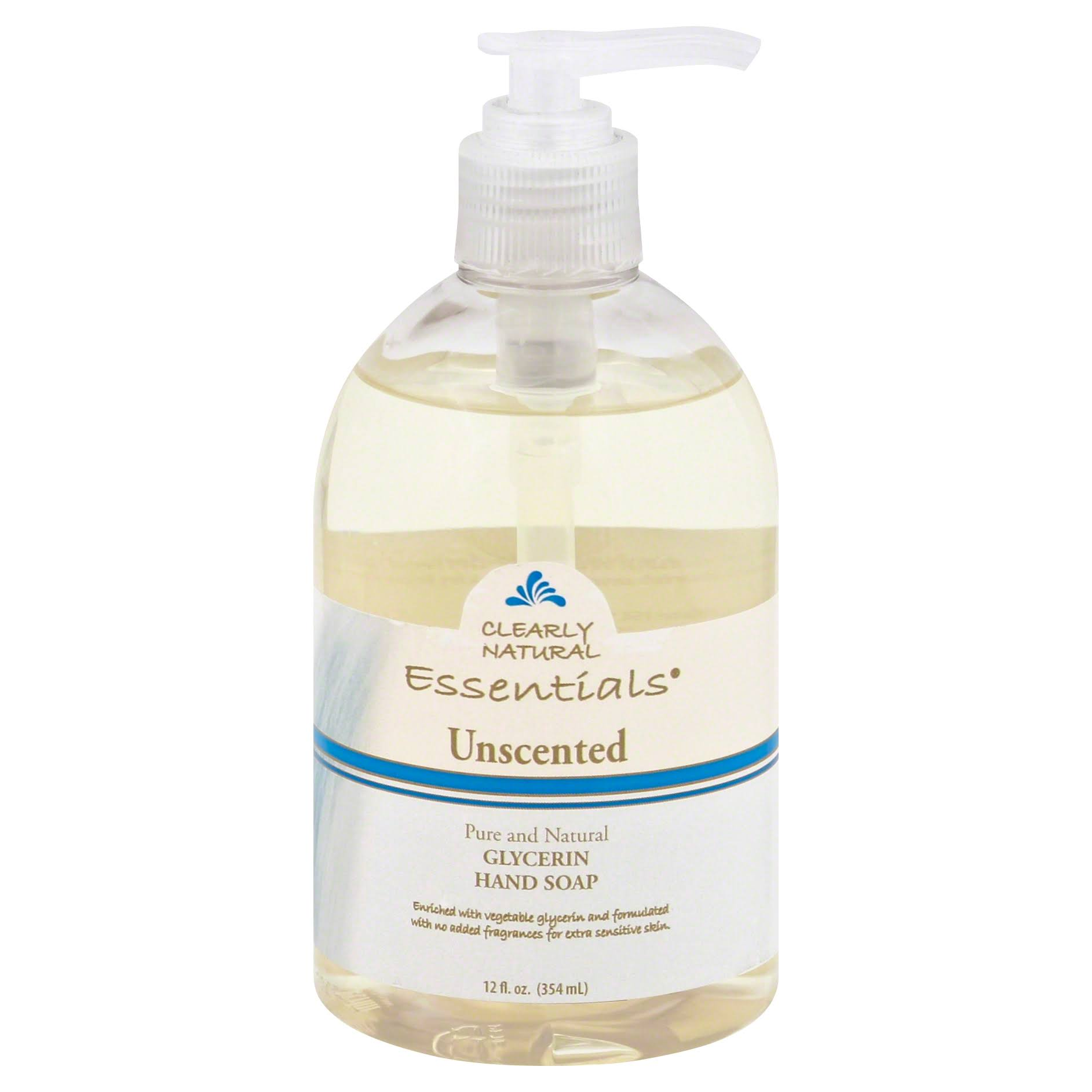 Clearly Natural Essentials Glycerine Hand Soap - Unscented, 12 oz