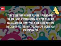 can you use a plunger to unclog a kitchen sink youtube
