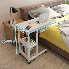 zccdnz nachttisch laptoptisch lazy tisch bett tisch kleiner tisch im schlafzimmer bewegliches heben mini student einfach farbe d größe 80cm