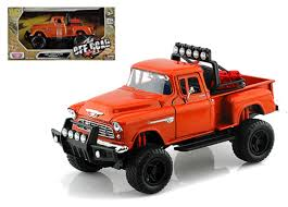 100 Stepside Trucks 1955 Chevrolet 5100 Pickup Truck Off Road Orange 124