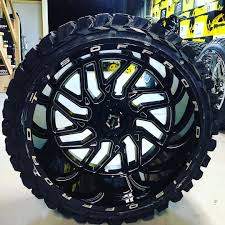 100 Truck Rims And Tires Packages Ewheeldeal Psycho Gladiator Xcomp 35125024 Matched To Tis544 Bm