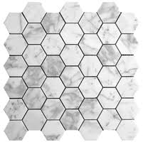 hexagon carrara from 8 95 square foot marble mosaic tiles
