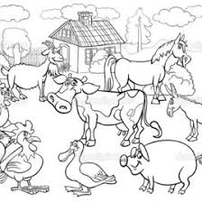 Farm Animals Colouring Pages Printable Wwwmindsandvines