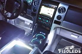 100 Ford Truck Center Console 2009 2014 F150 LED Interior Ambient Lights F150LEDscom