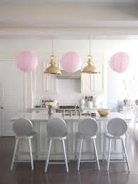 Smart Idea Pink Kitchen Stools Whiteand Gold With Accents Transitional