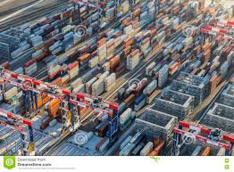 100 Shipping Containers California Stacks Of Afternoon Aerial Editorial Photo