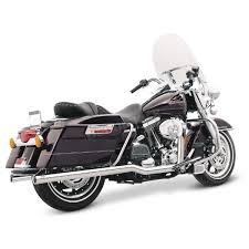 Vance And Hines Dresser Duals Black by Vance U0026 Hines Chrome Big Shot Duals Exhaust System 17917 Harley