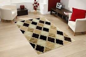 All Floors Carpet by Modern Brown Beige Large Carved Soft Pile Rug Hard Wearing All