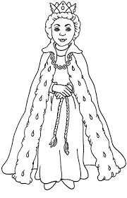 Queen Esther With Her Beautiful Gown Coloring Page Kids Play Color