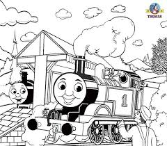 Spooky Railway Station Drawing Thomas The Train Coloring Pages Free Printable Kids Craft Activities