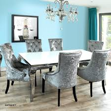 Velvet Dining Chairs And Table Excellent Black Upholstered Room Unique Best