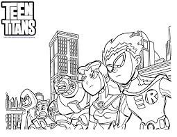 Teen Titans Coloring Page