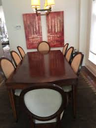 Modern Beautiful Solid Wood Extending Dining Table And 8 Chairs