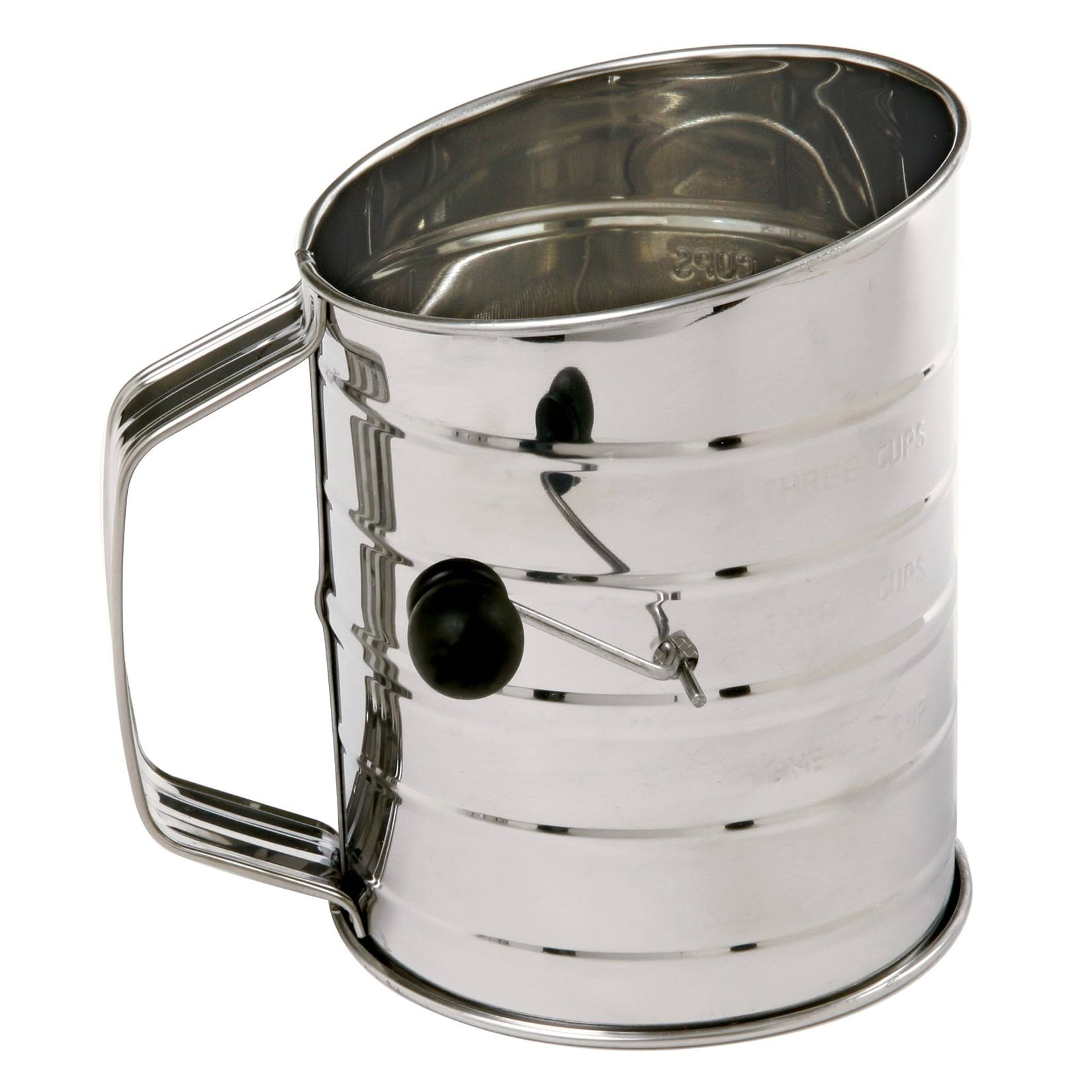 Norpro Crank Flour Sifter - Stainless Steel