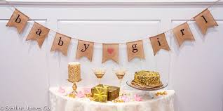 baby burlap banner baby shower decorations