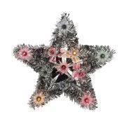 Northlight Seasonal Lighted Tinsel Star Christmas Tree Topper