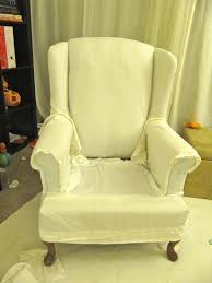 Bed Bath And Beyond Slipcovers For Chairs by My Wing Chair Slipcover Reveal