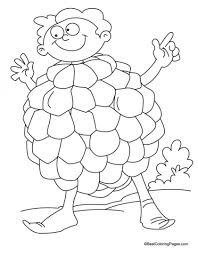 Cartoon Custard Apple Coloring Pages