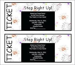 Printable Ticket Template Carnival Invitation Free