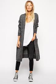 Le Fashion Blog Ways To Wear Converse Chuck Taylor High Top Sneakers Long Cardigan Cropped Jeans