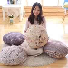 ซื้อที่ไหน Creative Simulation Stone Pillows Cushion Down Cotton ...