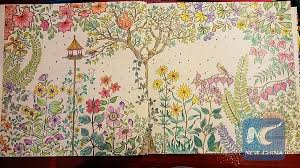 The Coloring Book Has Become A Trendy Way To Kill Time And Take Pressure Off For Young Office Workers New Moms Pages From Secret Garden