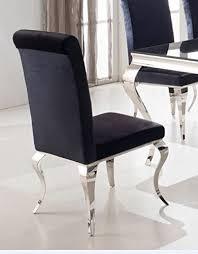 wohnen luxus esszimmerstuhl luca barock design samtstoff stof schwarz stuhl stühle esszimmer esszimmerstühle rokoko