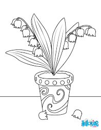 Coloriages Pot De Muguet Frhellokidscom