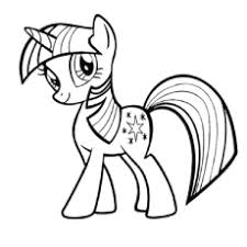 A Twilight Sparkle Image For Coloring