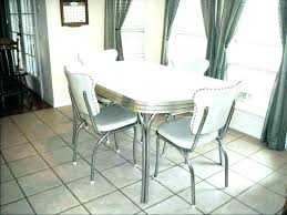 Retro Dining Room Table And Chairs Vintage Furniture Full