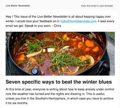 newsletter cuisine live better newsletter worfolk anxiety