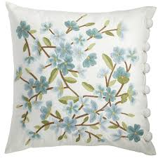 Pier One Canada Decorative Pillows by Spring Meadow Embellished Floral Bloom Pillow Pier 1 Imports