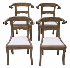 Set Of 4 Brass Anglo Indian Dining Chairs C.1900 - 4555 / LA57944 ... Tiger Oak Fniture Antique 1900 S Tiger Oak Round Pedestal With Ding Chairs French Gothic Set 6 Wood Leather 4 Victorian Pressed Spindle Back Circa Room 1900s For Sale At Pamono Antique Ding Chairs Of Eight Chippendale Style Mahogany 10 Arts Crafts Seats C1900 Glagow Antiques Atlas Edwardian Queen Anne Revival Table 8 Early Sets 001940s Extendable With Ball Claw Feet Idenfication Guide