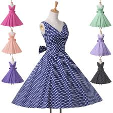 PLUS Housewife Vintage Retro 50s Polka Dots Swing Party Pinup GOTHIC TANZ Dress