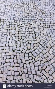 Details Of Typical Mosaic Floor On The Streets Lisbon Portugal