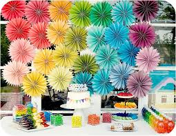 House Kid Birthday Party Decorations With Paper Rosette