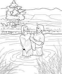 Charming Design Jesus Baptism Coloring Pages Jesus Is Baptized